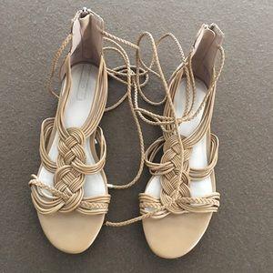 Aldo lace up flat sandals
